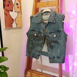 Vintage Crop Jean Vest